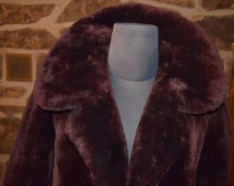 Black Friday FREE DOMESTIC SHIPPING* Chocolate Brown Mouton Genuine Lambskin Fur