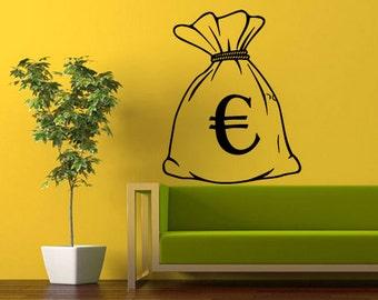 rvz357 Wall Vinyl Sticker Bedroom Decal Euro Bag Purse Sac