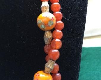 Beaded Oriental Necklace 1960's