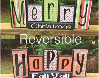 Reversible Holiday Blocks