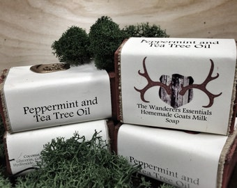 Peppermint and Tea Tree Oil Goats Milk Soap