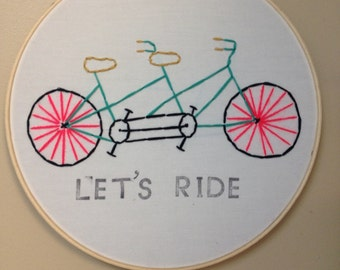 Handmade Bicycle built for two sewing ring