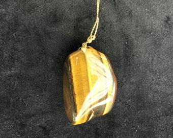 Large tiger eye pendant