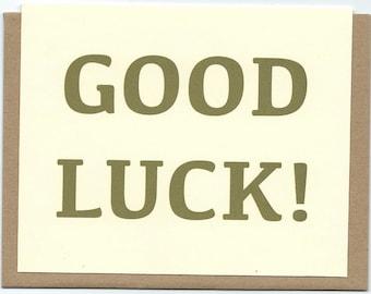 Good Luck! card