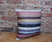 kilim pillow,turkish pillow cover,sitting pillow,couch pillow,striped pillow,accent kilim pillow,upholstery pillow,40x40 cm 16x16 inch 2050