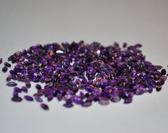 2 x 4 (0.08ct) Medium/Dark Purple Marquise Cut Amethyst Stone