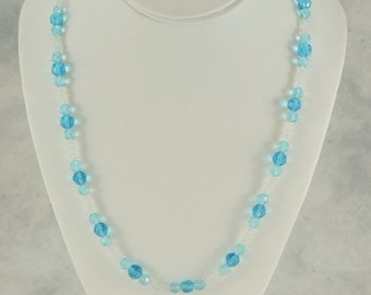 Light Blue and White Necklace