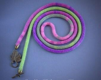 Handmade beaded lariat necklace