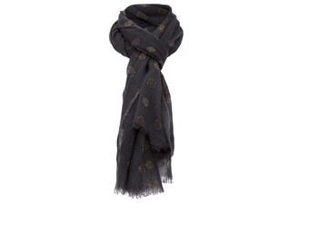 Dark Grey woolen scarf