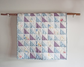 Mini quilt, small baby quilt, photo prop quilt, baby quilt, small quilt, photo prop, quilt, upcycled quilt, patchwork quilt, baby blanket