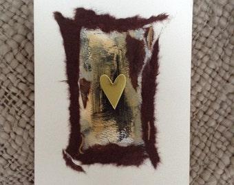 Handmade heart greeting card