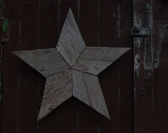 Reclaimed, Recycled Wood Star Wall Hanging, Sign