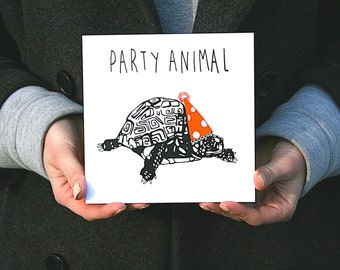 Party Animal: Hand Screen Printed Greetings Card