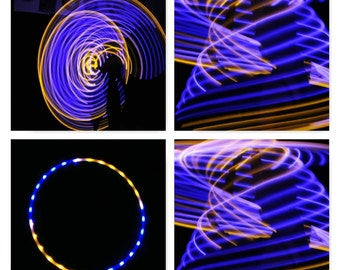 Sections Blue & Yellow  LED Hula Hoop