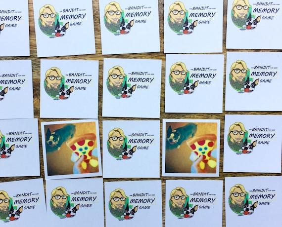 25 pc Memory Game, Bandit Fun Size Memeory Game, boston terrier, dog memory game, Sidesandwich, childrens game, card game