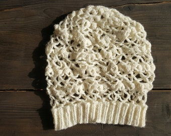 White Crochet Hat