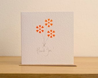 flowers, thank you, happy birthday, thinking of you, cut card
