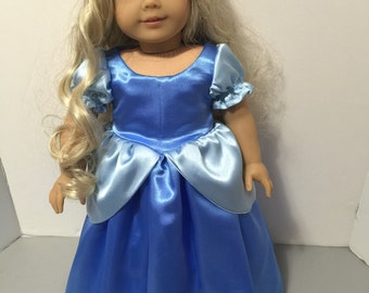 Cinderella inspired dress for American Girl Doll