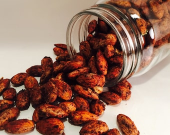 Paleo Candied Nuts, Almonds, Walnuts, Pecans, Gift Idea, Mason Jar, Holiday Treat