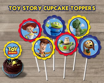 Toy Story Cupcake Toppers, Toy Story Party, Toy Story Printable Toppers