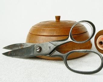 SCISSORS Old Vintage/ Big Old Scissors/ Seamstress Accessory/ Russian Vintage Style/ USSR