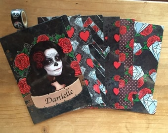 Personalized sugar skull planner dividers  / A5 planner / planner supplies / planner accessories / day of the dead / dashboard