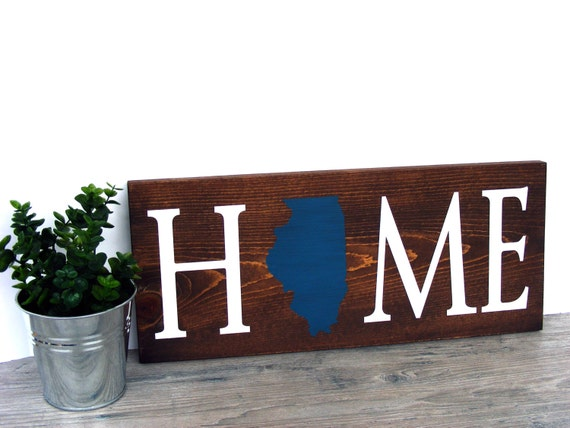 Home State Sign Custom Home Decor Sign Wood Wall Sign