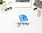 Premade Logo Design, Watercolor Logo, Initials Logo, Photograhy Logo Watermark, Black Gold Logo Branding, Customizable for any business logo