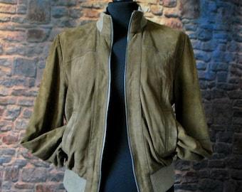 ZARA Vintage Bomber Jacket Suede size L