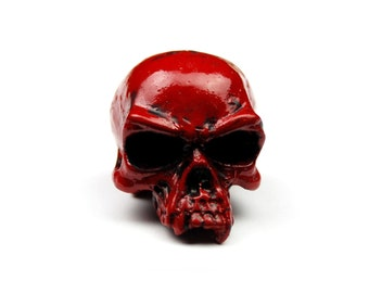 Half Jaw Skull pull,Door Drawer, Cabinet, Wardrobe,Pull, Knob,tool box,handle,red skull