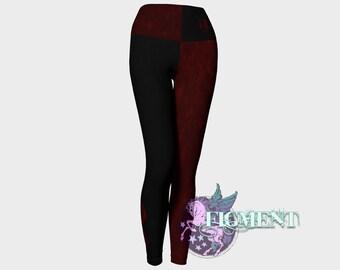 Harley Yoga Leggings - XS - 3X, cosplay, costume, comic con, Quinn, Batman, Arkham, pants, tights, Halloween, plus size, gift, geek, nerd