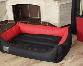 Dog bed/Dog couch with removable cover, 92 x 65 cm