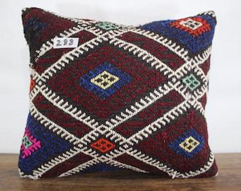 16x18 Kilim Pillow 16x18 Decorative Kilim Pillow Cover Kilim Cushion Cover,Tribal Pillow,Embroidery Kilim Pillow Throw Pillow SP4040-288