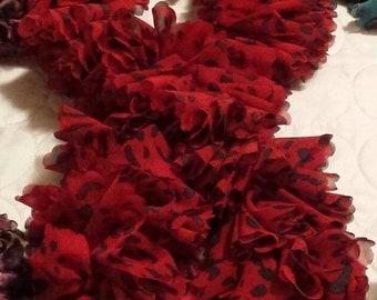 Crochet Sassy Fabric Scarf