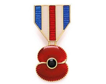 Remembrance Day 2016 Pendant Poppy Brooch