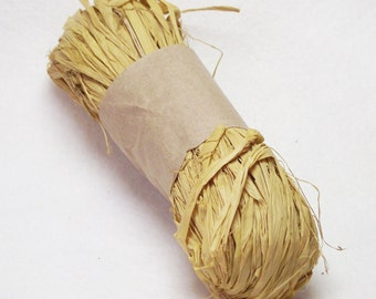 1 oz. Package of Raffia in Mellow Yellow