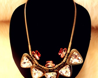 Triangle Rine Stone Necklace