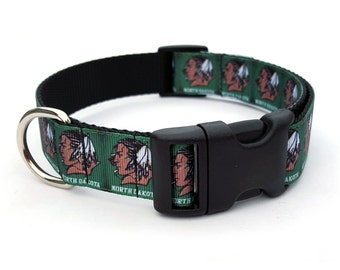 Fighting Sioux Dog Collar - Green