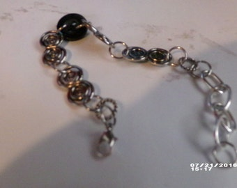 Black Button bracelet