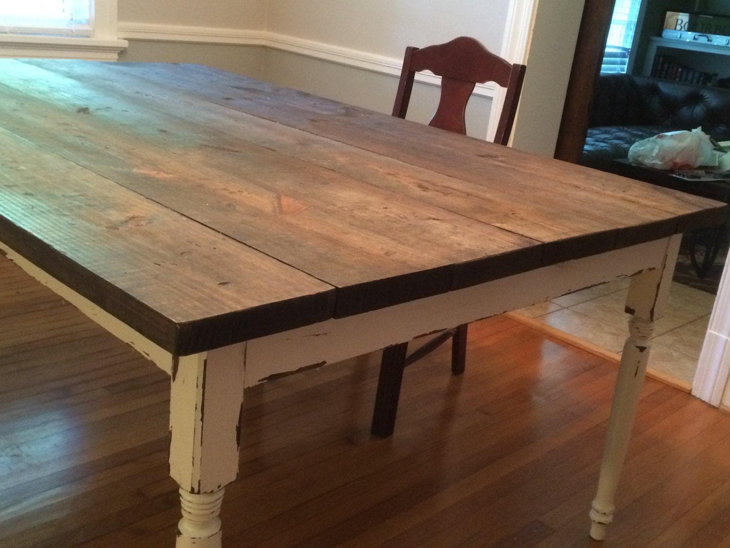 Custom Farmhouse Table by FurnishingByPhil on Etsy
