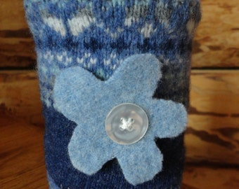Recycled Wool Mason Jar Cover for Soups and Teas