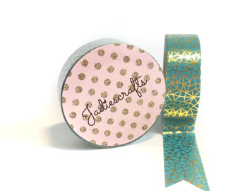 Bolt from the Blue Washi Tape | Blue and Gold Foil