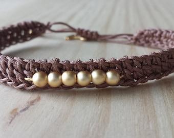 Crochet macrame woven bracelets, crochet blacelet, beaded crochet woven bracelets, macrame jewelry