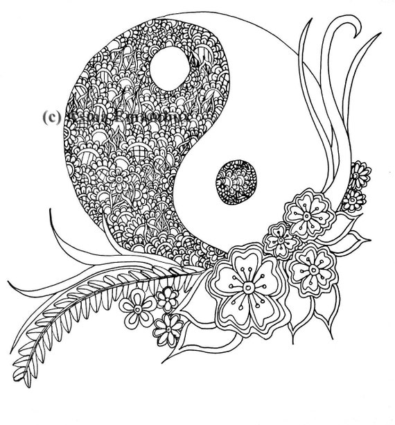 Ying yang coloring page for Ying yang coloring pages