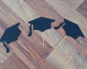 Graduation cupcake toppers, 12 Graduation Cupcake Toppers, Graduation Party, Graduation Celebration, Cupcake toppers, Graduation Cap