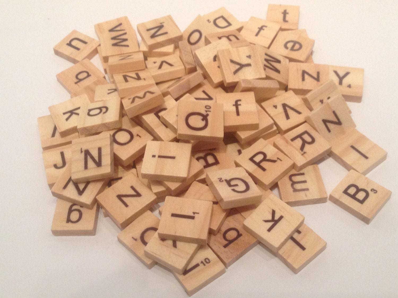 Set 100 piezas de scrabble madera juego cruzaletras - Letras scrabble madera ...