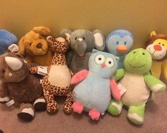 Custom Embroidered Cubbies, Stuffed Animals, Baby Shower Gift, Baby Gift, Child Gift, Embroidered, Monogram
