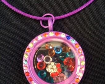 Floating Charm Memory Locket Necklace