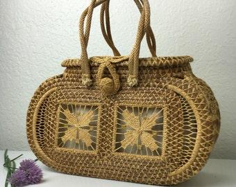 "50's ""All That Heaven Allows"" Basket Handbag"