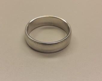 14K White Gold Men's Wedding Band Ring